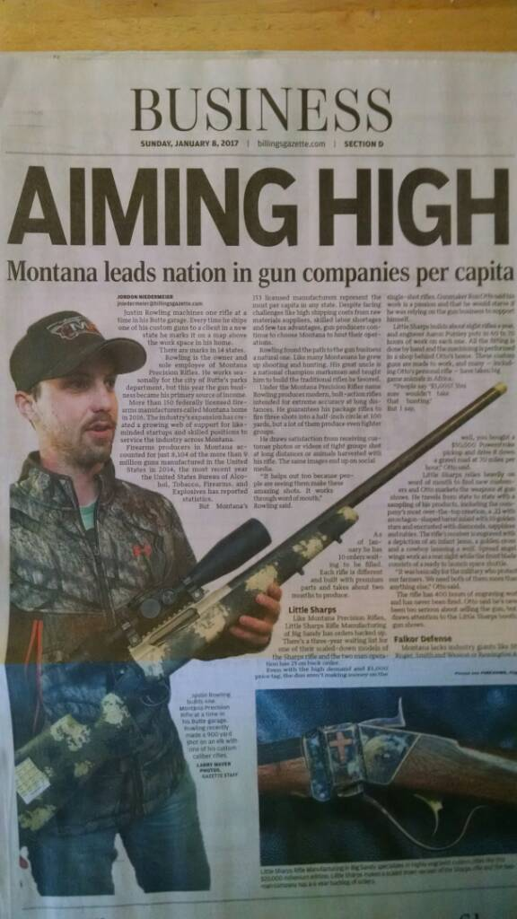 Montana leads nation in gun makers. the local paper ran an interesting story today I  - General Firearms Discussion