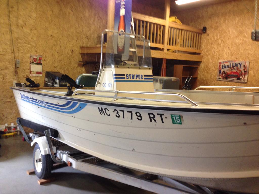 Sportsman Seat Covers >> 17 ft Sea Nymph Striper | Michigan Sportsman - Online Michigan Hunting and Fishing Resource