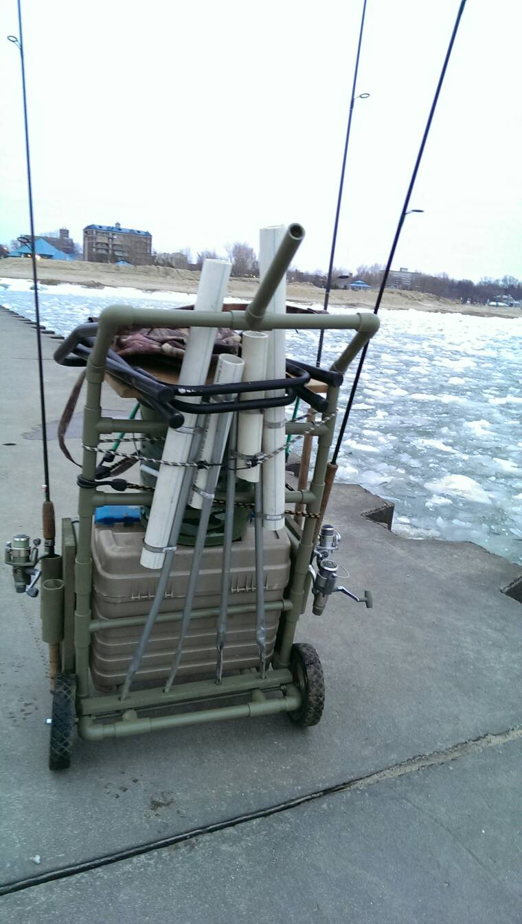 Pier cart setup page 2 michigan sportsman online for Fishing carts for sale
