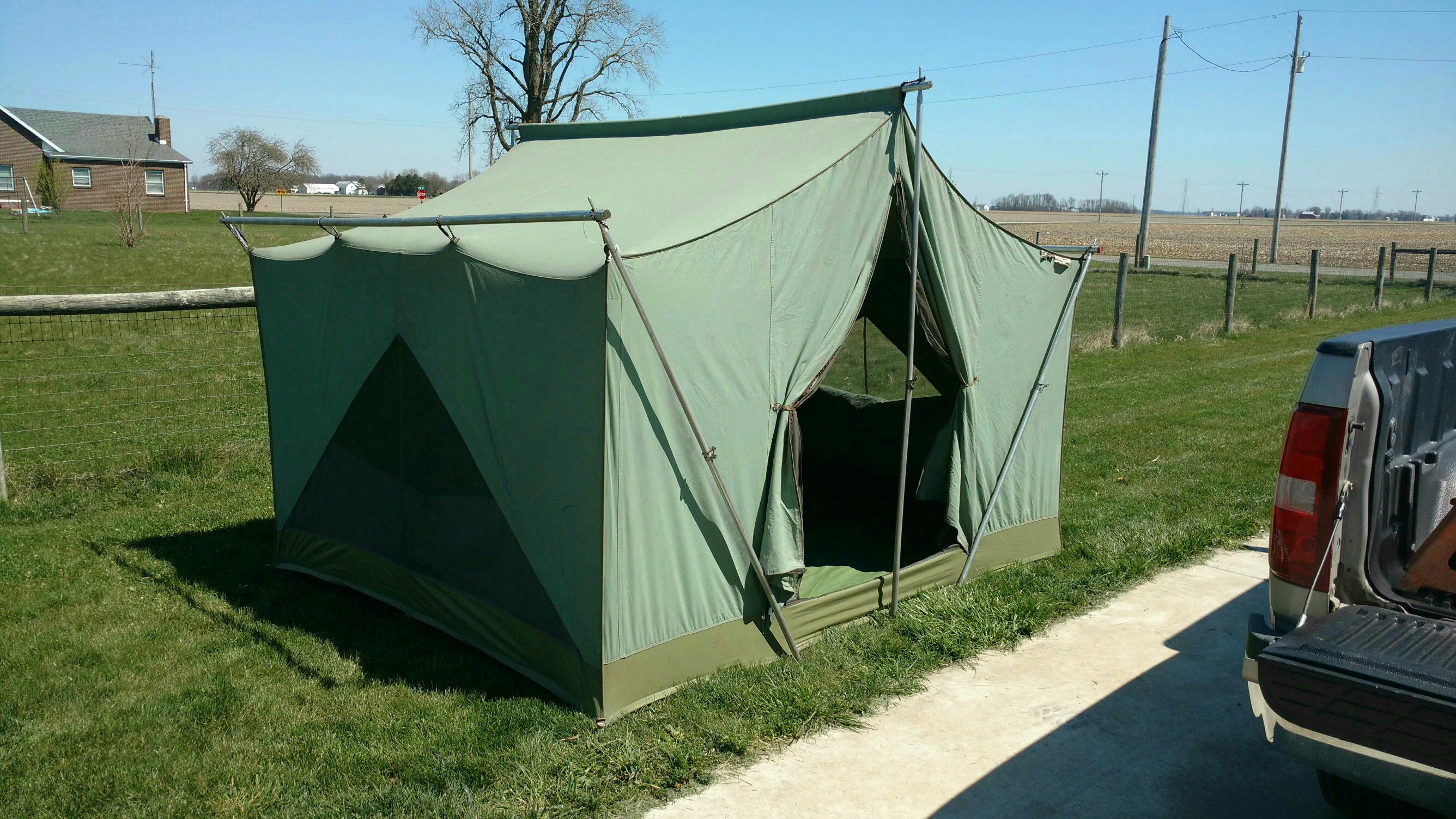 I have a 8x10 x 6u00278  tall eureka canvas cabin tent in good condition all zippers in good working condition and recently waterproofed. & Eureka canvas cabin tent | Ohio Game Fishing - Your Ohio Fishing ...